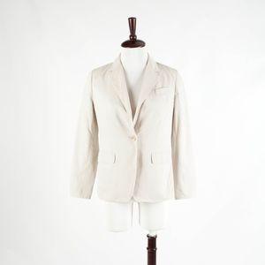 TALBOTS Petites – Khaki Cotton Blazer Jacket – 4